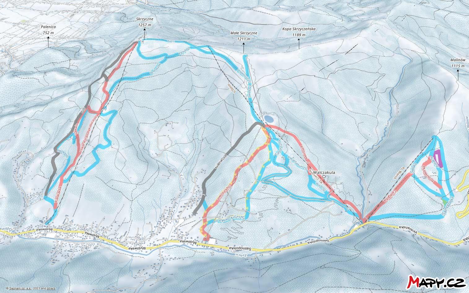 mapy szczyrk trasy